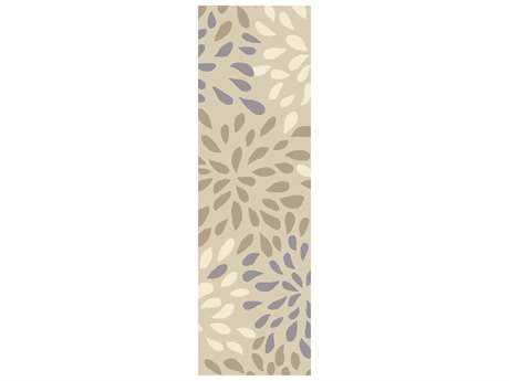 Surya Cosmopolitan 2'6'' x 8' Rectangular Light Gray & Ivory Runner Rug