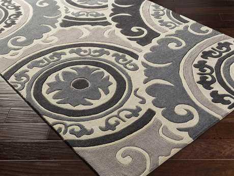 Surya Cosmopolitan Rectangular Taupe & Light Gray Area Rug