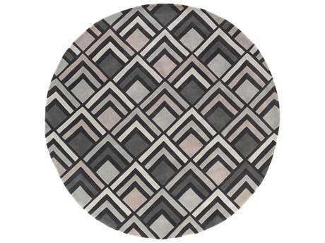 Surya Cosmopolitan 8' Round Light Gray Area Rug