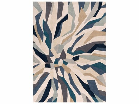 surya rectangular beige u0026 teal area rug