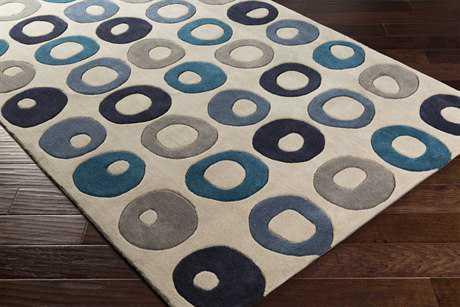 Surya Cosmopolitan Rectangular Black, Dark Blue & Navy Area Rug