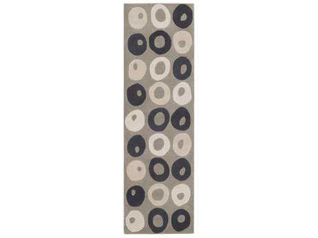 Surya Cosmopolitan 2'6'' x 8' Rectangular Black, Taupe & Ivory Runner Rug