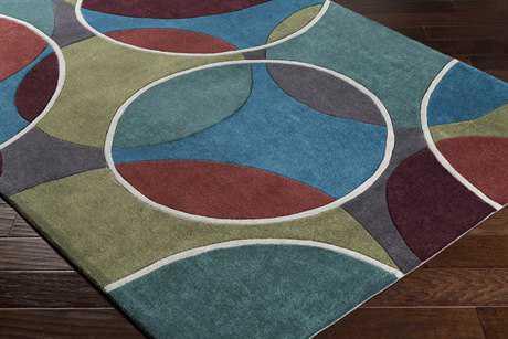 Surya Cosmopolitan Rectangular Teal, Dark Green & Bright Blue Area Rug