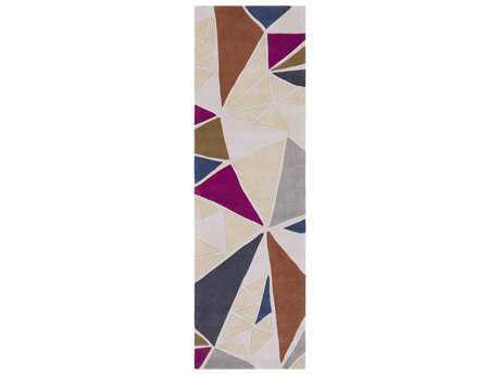 Surya Cosmopolitan 2'6'' x 8' Rectangular Khaki, Medium Gray & Burnt Orange Runner Rug