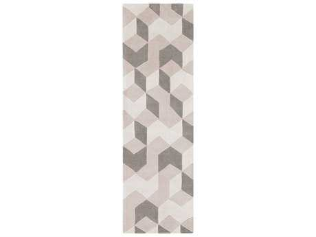 Surya Cosmopolitan 2'6'' x 8' Rectangular Cream, Khaki & Medium Gray Runner Rug