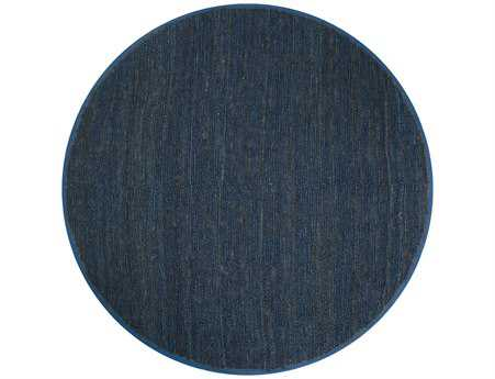 Surya Continental 8' Round Blue Area Rug