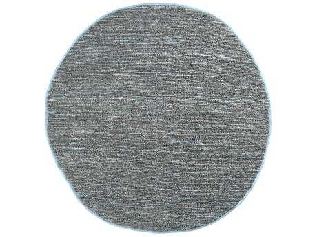 Surya Continental 8' Round Silver Gray Area Rug