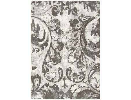 Surya Contempo Rectangular Gray Area Rug