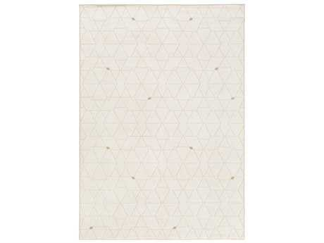 Surya Contempo Rectangular White, Dark Brown & Camel Area Rug