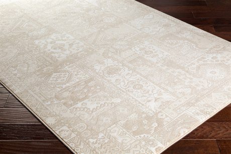 Surya Contempo Rectangular Dark Brown, White & Cream Area Rug