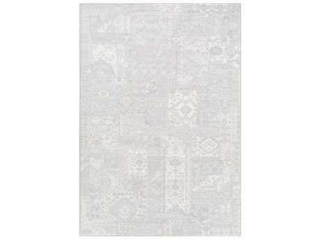 Surya Contempo Rectangular Light Gray & White Area Rug