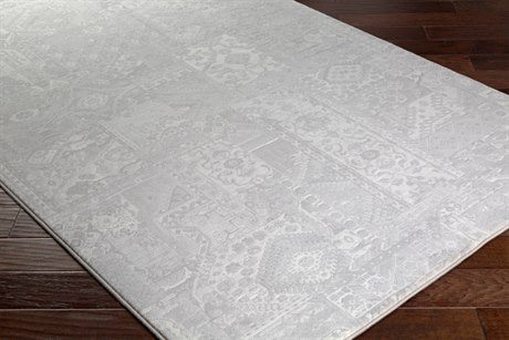 Surya Contempo Rectangular Light Gray & White Area Rug