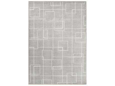 Surya Contempo Rectangular Medium Gray, Light Gray & White Area Rug