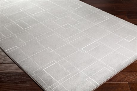 Surya Contempo Rectangular Medium Gray, Light Gray & White Area Rug