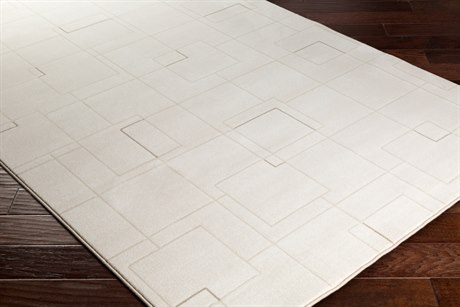 Surya Contempo Rectangular White, Cream & Dark Brown Area Rug