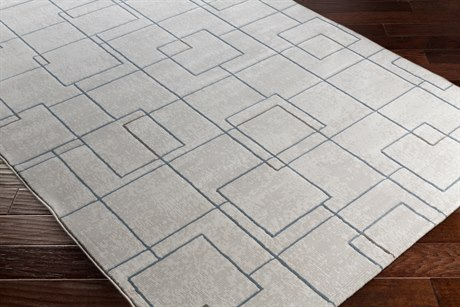 Surya Contempo Rectangular White, Light Gray & Denim Area Rug