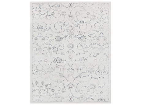 Surya Contempo Rectangular White, Light Gray & Medium Gray Area Rug