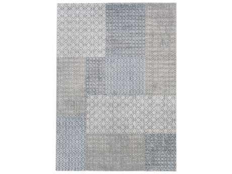 Surya Contempo Rectangular White, Light Gray & Medium Gray Area Rug