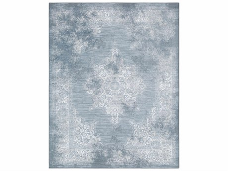 Surya Contempo Rectangular White, Pale Blue & Denim Area Rug