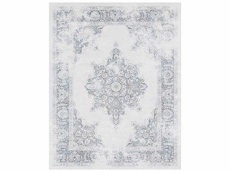 Surya Contempo Rectangular White, Light Gray & Denim Area Rug