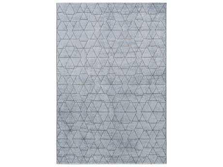 Surya Contempo Rectangular Pale Blue, Denim & Medium Gray Area Rug