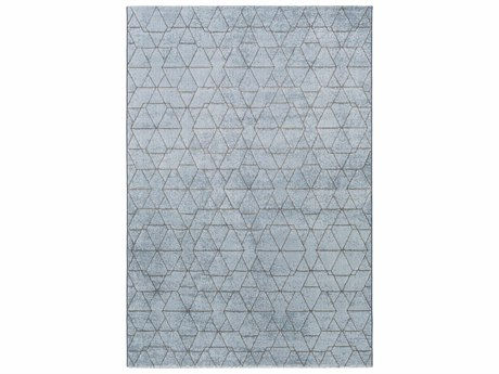 Surya Contempo Rectangular Pale Blue, Denim & Medium Gray Area Rug
