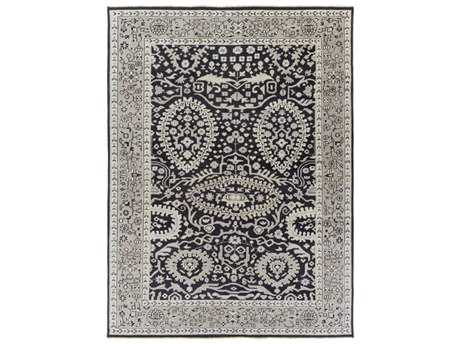 Surya Cappadocia Rectangular Black, Ivory & Medium Gray Area Rug