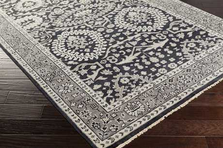Surya Cappadocia Rectangular Black, Ivory & Medium Gray Area Rug