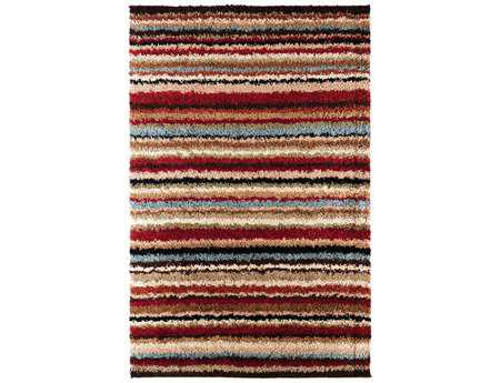 Surya Concepts Rectangular Red Area Rug