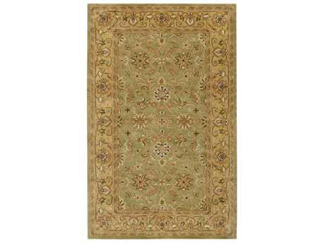 Surya Crowne Rectangular Green Area Rug