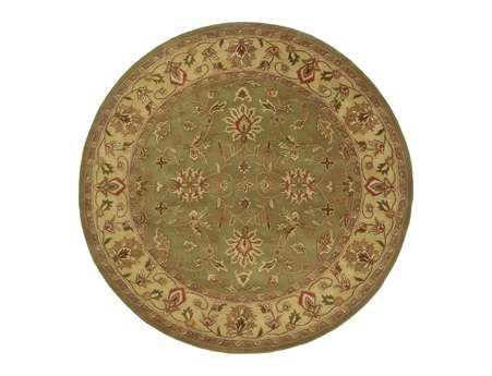 Surya Crowne 8' Round Green Area Rug