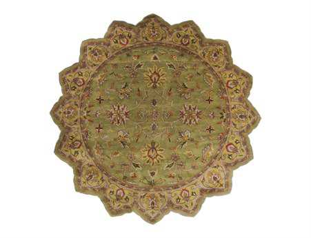 Surya Crowne 8' Star Green Area Rug