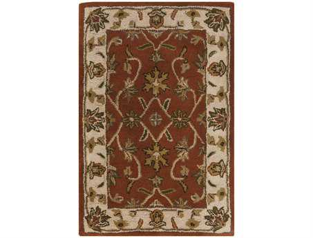 Surya Crowne Rectangular Orange Area Rug