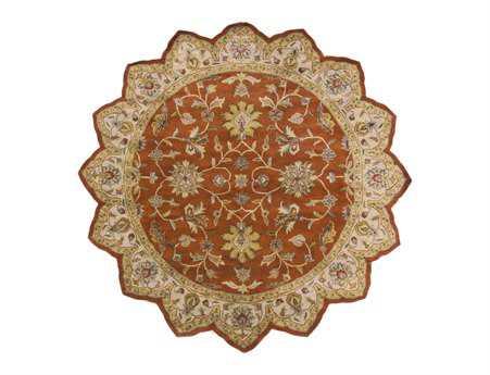 Surya Crowne 8' Star Orange Area Rug