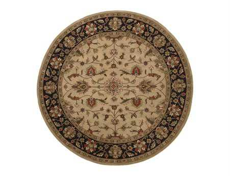 Surya Crowne 8' Round Brown Area Rug