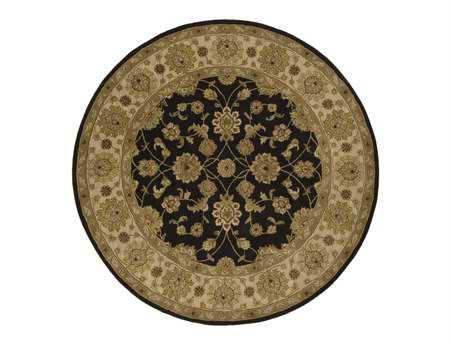 Surya Crowne 8' Round Black Area Rug