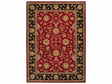 Surya Crowne Rectangular Red Area Rug