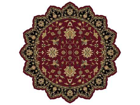 Surya Crowne 8' Star Burgundy Area Rug
