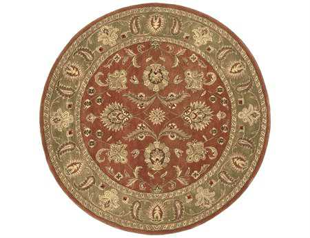 Surya Crowne 8' Round Orange Area Rug