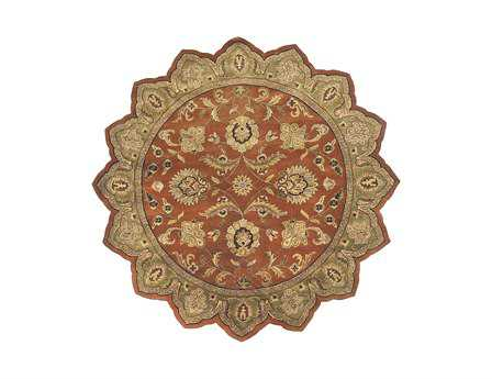 Surya Crowne 8' Star Orange Area Rug