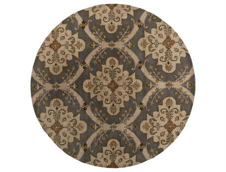 Surya Crowne 8' Round Gray Area Rug