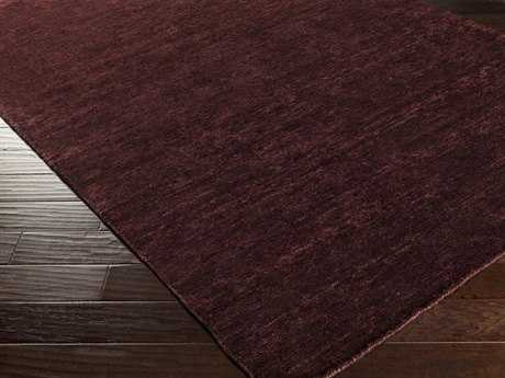 Surya Crusoe Rectangular Burgundy Area Rug