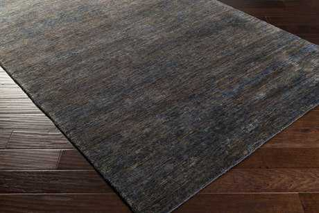 Surya Crusoe Rectangular Navy, Black & Dark Brown Area Rug