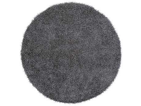 Surya Croix Round Light Gray Area Rug