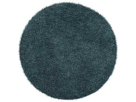 Surya Croix Round Teal Area Rug