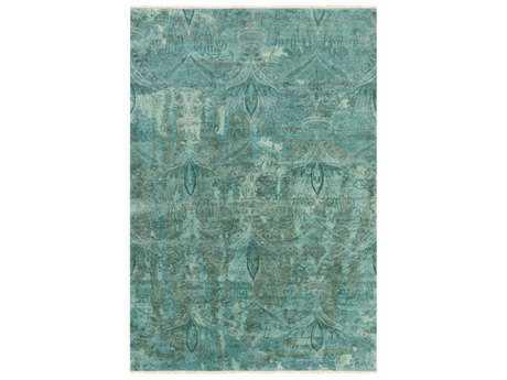 Surya Cheshire Rectangular Aqua, Teal & Emerald Area Rug