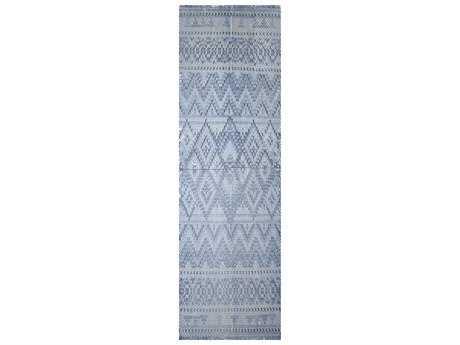 Surya Chaska 2'6'' x 8' Rectangular Sky Blue Runner Rug