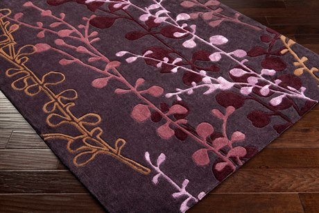 Surya Cosmo Ultra Rectangular Purple Area Rug