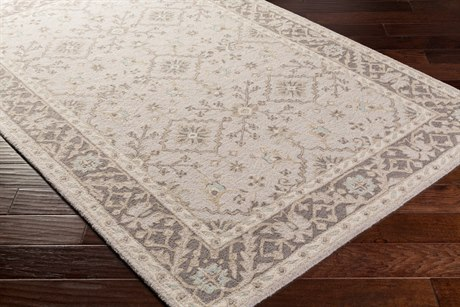 Surya Castille Rectangular Light Gray Area Rug