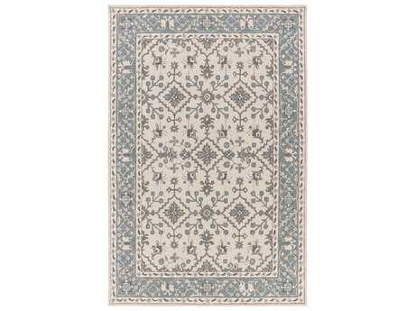 Surya Castille Rectangular Teal Area Rug